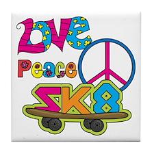 Love Peace Skate Tile Coaster