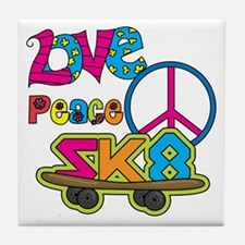 Love Peace Skate Tile Coaster