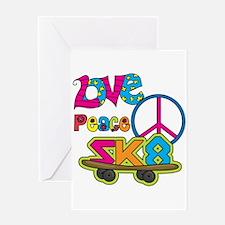 Love Peace Skate Greeting Card