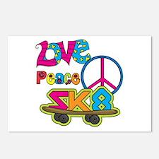 Love Peace Skate Postcards (Package of 8)