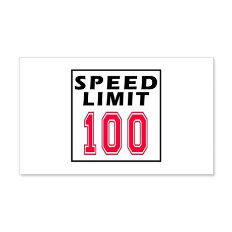 Speed Limit 100 20x12 Wall Decal