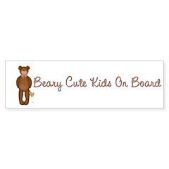 Beary Cute Bumper Sticker