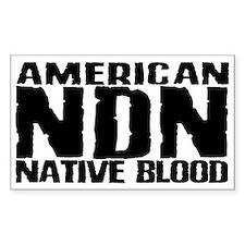 American NDN Native Blood Rectangle Decal