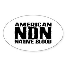 American NDN Native Blood Oval Decal