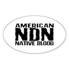 American NDN Native Blood Oval Decal