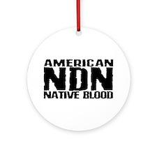 American NDN Native Blood Ornament (Round)