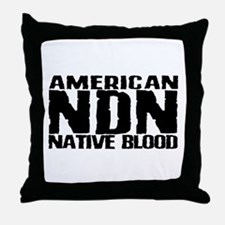 American NDN Native Blood Throw Pillow
