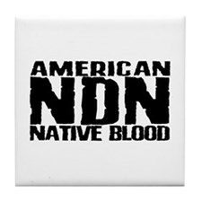 American NDN Native Blood Tile Coaster