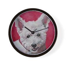 Westie - Ally Wall Clock