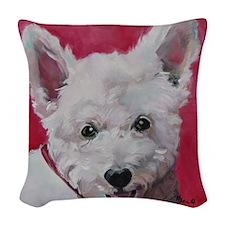 Westie - Ally Woven Throw Pillow