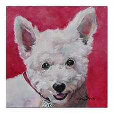 """Westie - Ally Square Car Magnet 3"""" x 3"""""""