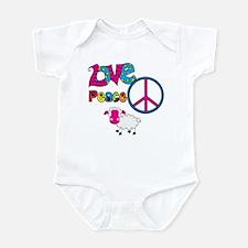 Love Peace Sheep Infant Bodysuit