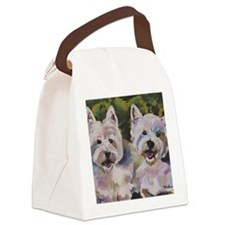 Two Westies Canvas Lunch Bag