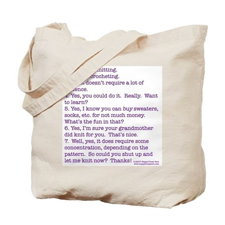 Answers (purple) Tote Bag