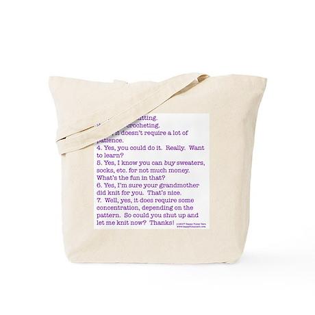 Answers (purple) Tote Bag