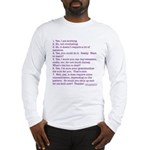 Answers (purple) Long Sleeve T-Shirt