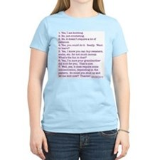 Answers (purple) Women's Pink T-Shirt