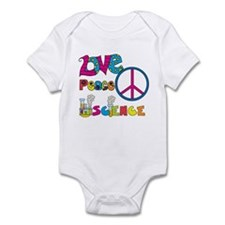 Love Peace Science Infant Bodysuit