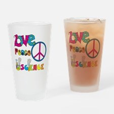 Love Peace Science Drinking Glass