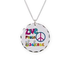 Love Peace Science Necklace