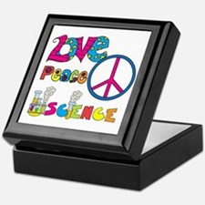 Love Peace Science Keepsake Box