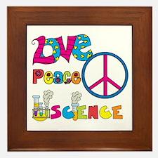 Love Peace Science Framed Tile