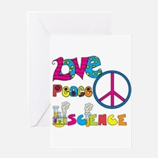 Love Peace Science Greeting Card