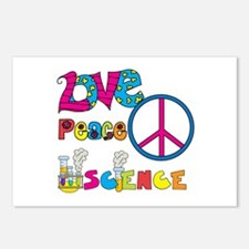 Love Peace Science Postcards (Package of 8)