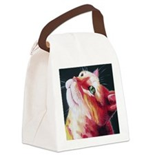 J's Kitty Canvas Lunch Bag