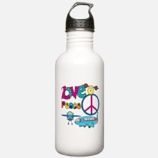 Love Peace Planes Water Bottle