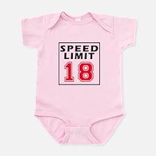 Speed Limit 18 Infant Bodysuit