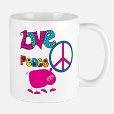 Love Peace Pigs Mug