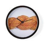 Orange yarn Wall Clock