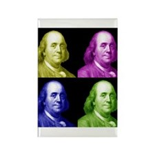 Ben Franklin Rectangle Magnet