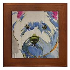 Westie Ungroomed Framed Tile