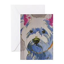 Westie Ungroomed Greeting Card