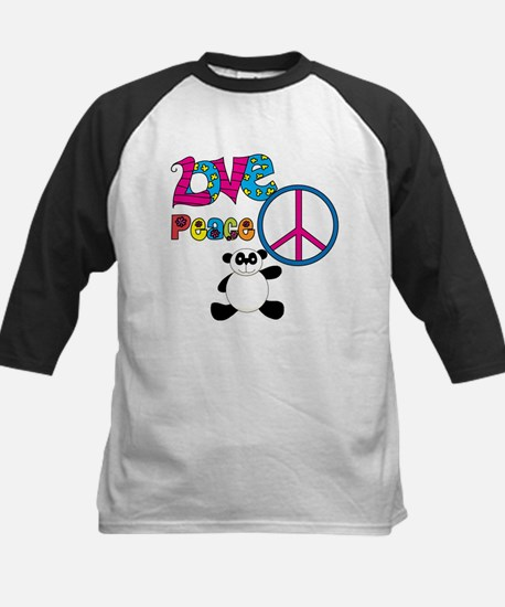 Love Peace Pandas Kids Baseball Jersey