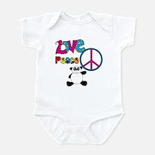 Love Peace Pandas Infant Bodysuit