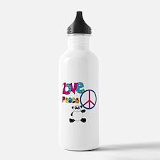 Love Peace Pandas Water Bottle