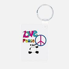 Love Peace Pandas Keychains