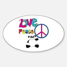 Love Peace Pandas Decal