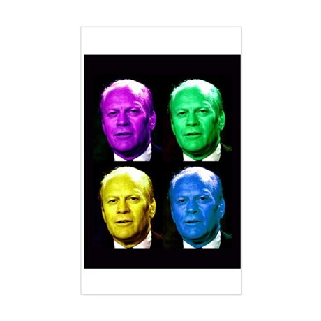 38th President Gerald Ford Rectangle Sticker