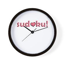 Sudoku Heart Motif Wall Clock