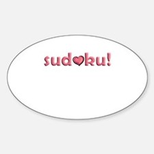Sudoku Heart Motif Oval Decal