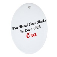 In Love with Ora Oval Ornament