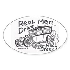 REAL MEN Drive- Oval Decal