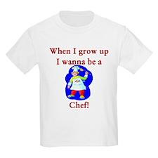 I Wanna Be A Chef Kids T-Shirt