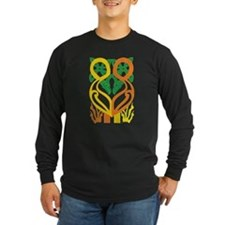 Celtic Roosters Dark Long Sleeve T-Shirt