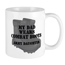 Army Daughter Dad Combat Boots Mugs