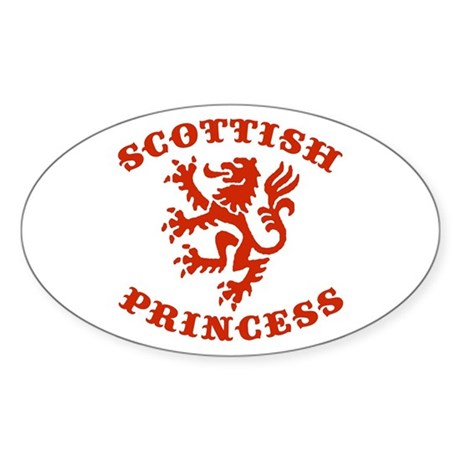 Scottish Princess Oval Sticker
